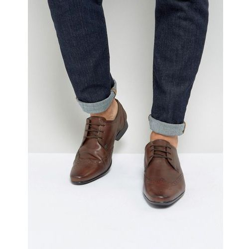 Silver street smart brogues in brown leather - brown