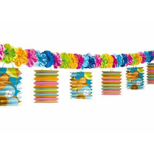 Girlanda kolorowe lampiony hawajskie 3,65m marki Amscan
