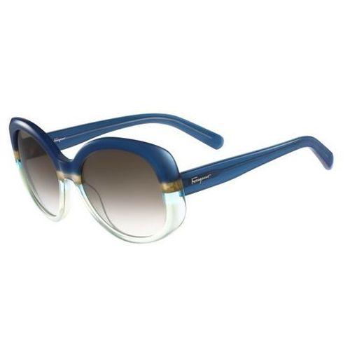 Okulary Słoneczne Salvatore Ferragamo SF 793S 447, kolor żółty
