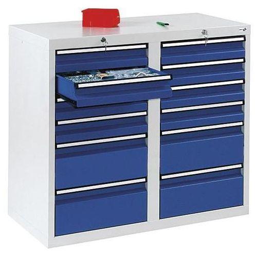 Szafka z szufladami, wys. x szer. x gł. 900x1000x500 mm, 8 szuflad o wys. 100 mm marki Stumpf-metall
