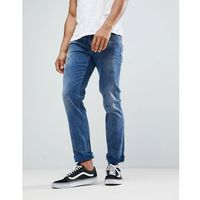 BOSS Slim Fit Mid Washed Distressed Jeans - Blue, jeans