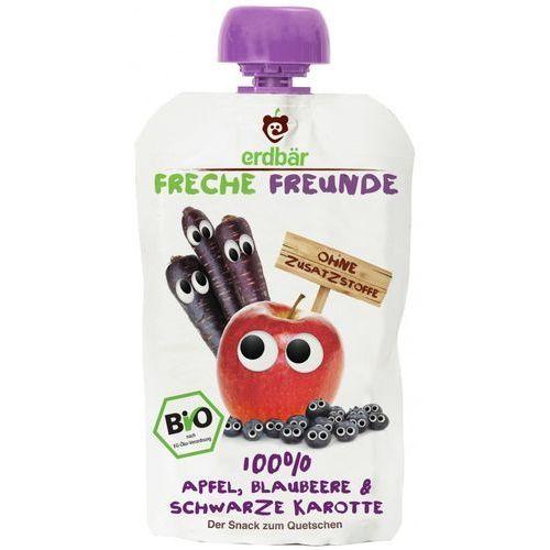 Mus do wyciskania jabłko-jagoda-czarna marchew 100g eko erdbar dla dzieci marki 208erdbar