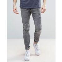 skinny jeans with distressing in grey - grey marki River island