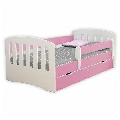 Łóżko dziewczęce z szufladą i materacem Pinokio 2X 80x160 - różowe, Kocot-łóżko-1-classic-różowe