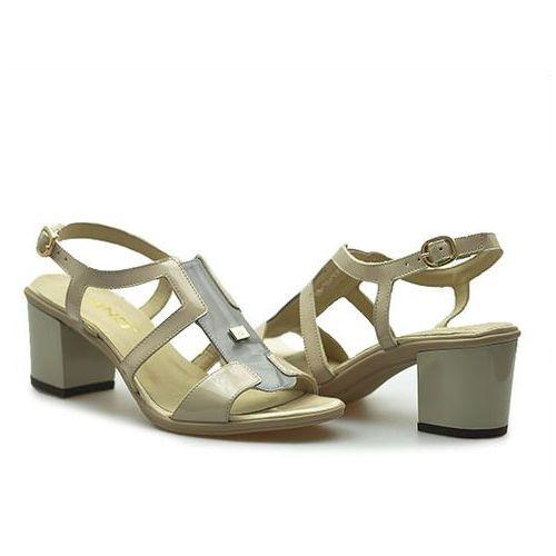 Sandały  1550/041-p szare/beż lakierowane, Karino
