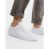 Fred perry b721 embossed laurel leather trainers in white - white