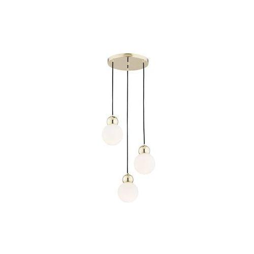 Prezent Lampa wisząca livia ip22 biało-złota e14
