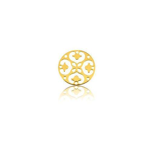 Ozdobna blaszka rozeta, złoto próba 585 marki 925.pl