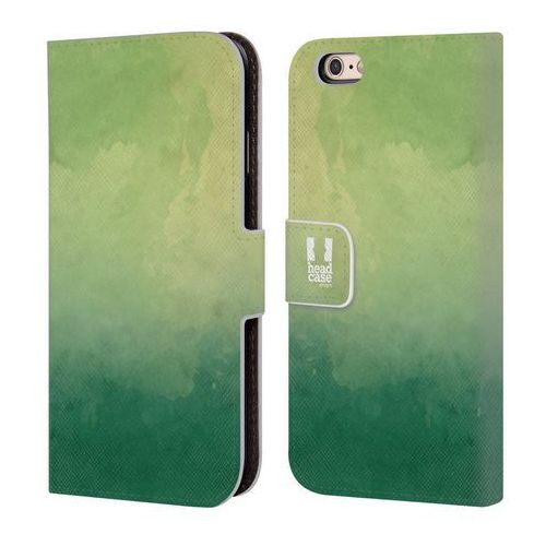 Etui portfel na telefon - watercoloured ombre green marki Head case