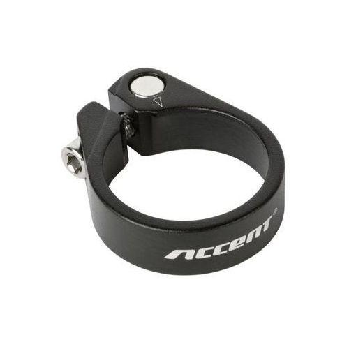 Accent Obejma podsiodłowa ze śrubą light 31.8mm czarna piaskowana