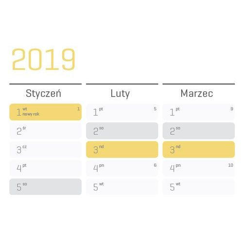 Planer na ścianę 2019 papierowy suchościeralny ogromny sun marki Grupavnm.pl