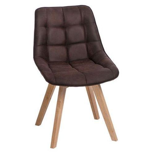 Krzesło Woody tapicerowane brązowe ciem ne 1025