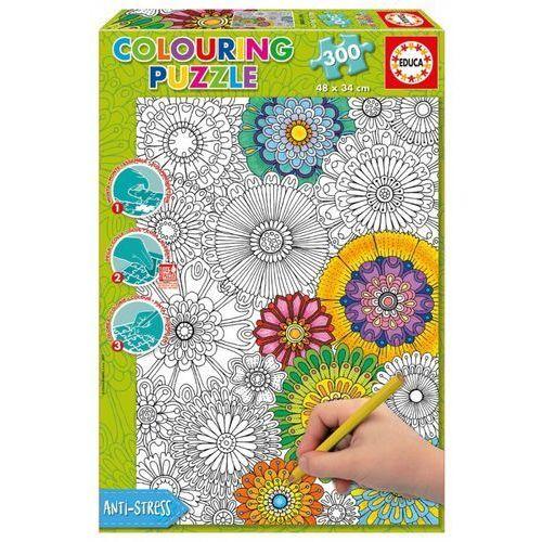 Educa 300 elementów kwiaty puzzle do kolorowania