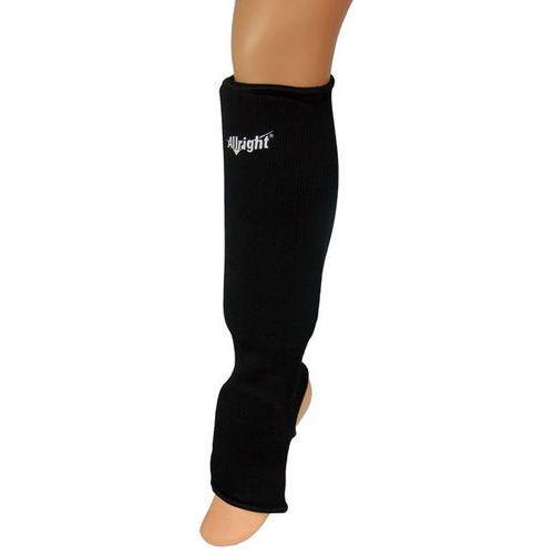 Nagolennik z osłoną stopy elastyczny, bawełna czarny marki Allright