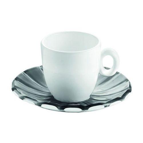 Guzzini - Grace - kpl. 2 filiżanek espresso,czarne - czarny ||biały, 28740092
