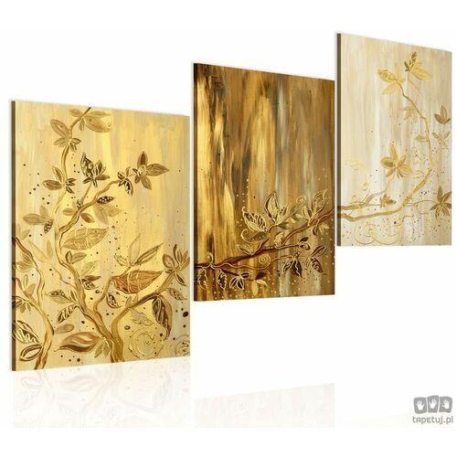 Obraz ręcznie malowany złote liście marki Artgeist