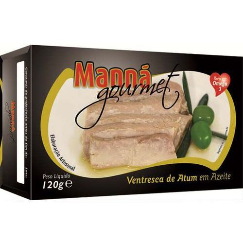 Manná gourmet Ventresca portugalskie brzuszki z tuńczyka w oliwie 120g (5601721411103)