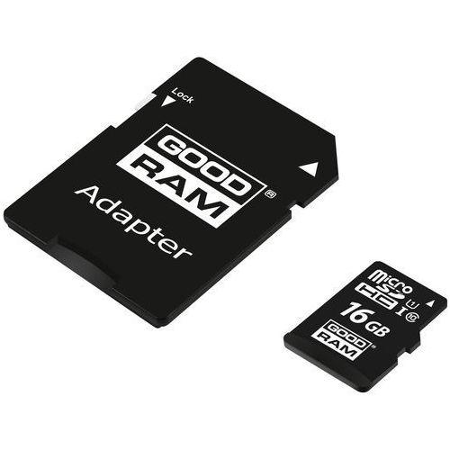 Goodram microsdhc 16gb class 10 uhs i + adapter - m1aa-0160r12 (5908267930137)