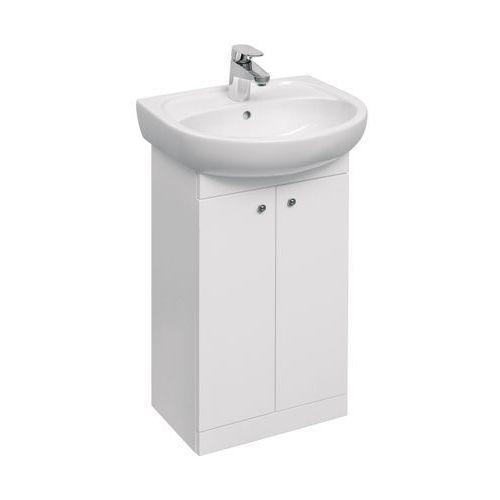 Koło solo zestaw łazienkowy: umywalka 50 cm + szafka, kolor biały połysk 79002