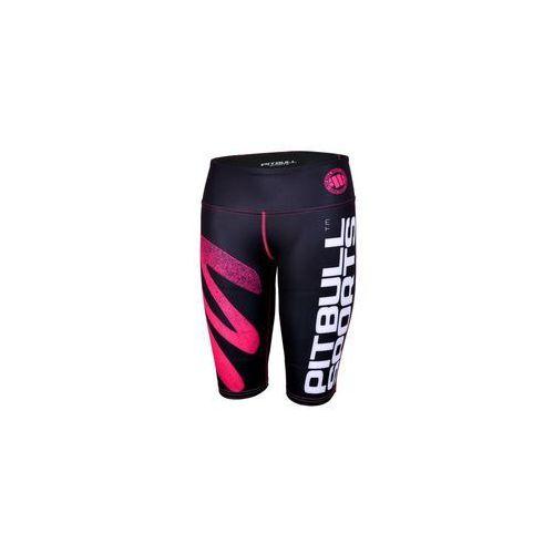 Spodenki kompresyjne damskie Fitness Pit Bull Zigzag - Różowe (920350.1005), 920350.1005