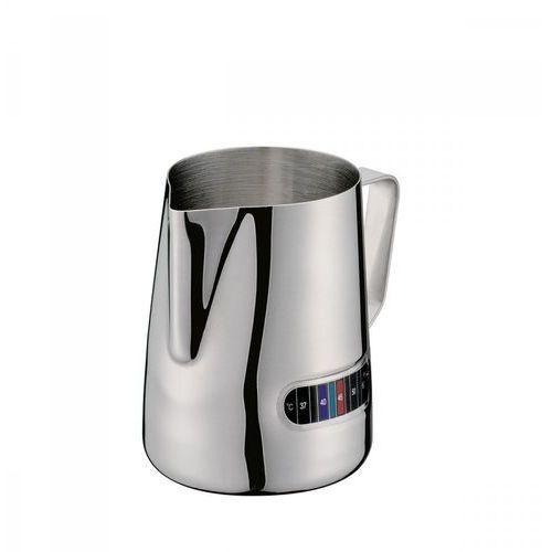 Stalowy dzbanek do podgrzewania mleka, z termometrem, śred. 8,5 x 11 cm, 0,6 l marki Cilio