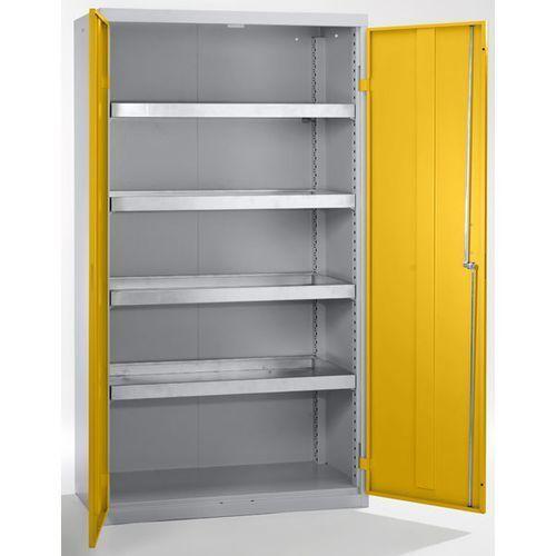 Stumpf-metall Szafa ekologiczna, drzwi zamknięte, wys. x szer. x głęb. 1800x1000x500 mm, 4 pół
