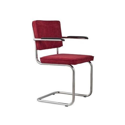 Zuiver fotel ridge rib czerwony 21a 1006051
