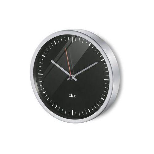 Zack - zegar wiszący 24 cm durata - czarny - stal nierdzewna matowa