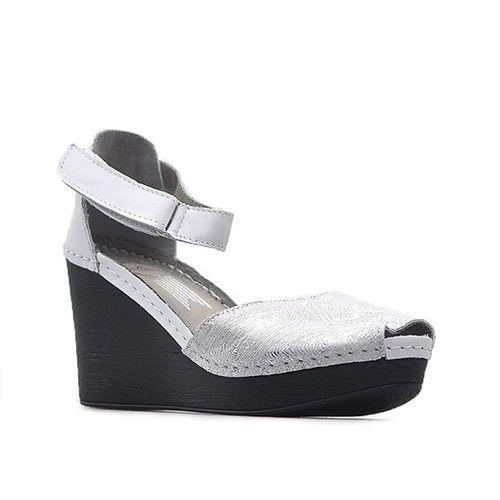 Sandały 50066 białe+tag srebrny marki Lemar