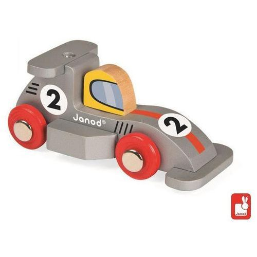 JANOD Wyścigówka drewniana Formuła1 szary - Wyścigówka drewniana Formuła1 szary, towar z kategorii: Zabawki drewniane