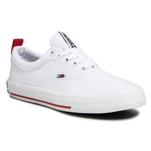 Tenisówki - lowcut essential sneaker en0en00794 white ybs marki Tommy jeans
