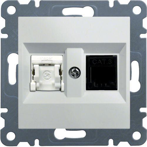 Hager Gniazdo komputerowo-telefoniczne rj45+rj11, białe lumina2 wl2210 (8694407000613)