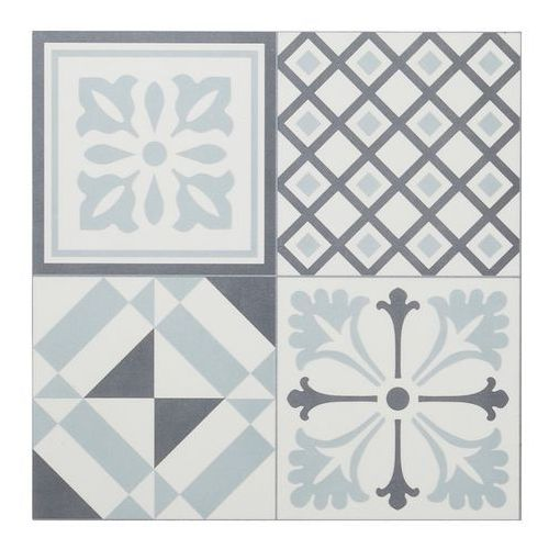 Panel podłogowy winylowy GoodHome 30,5 x 61 cm black & white cement tiles, PS015TD005