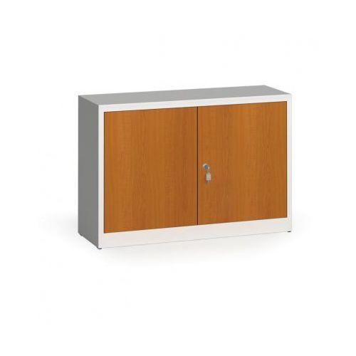 Szafy spawane z laminowanymi drzwiami, 800 x 1200 x 400 mm, ral 7035/czereśnia marki Alfa 3