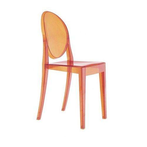 Kartell Krzesło victoria ghost pomarańczowe