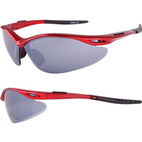 Accent Okulary shadow czerwone metalizowane 3 pary soczewek (5906720818695)
