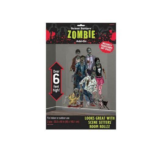 Amscan Dekoracja ścienna rodzina zombie - 2 elem. (0013051289249)