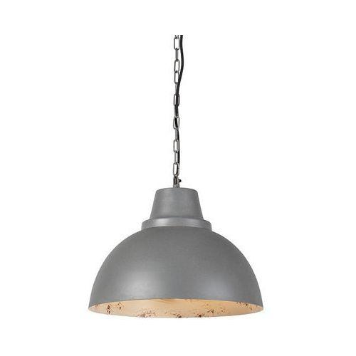 Lampa wiszaca falcon szara z bialym wnetrzem marki Qazqa