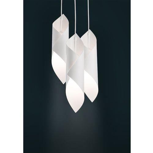 Lampa wisząca Sigma Helios 3 koło biała do salonu, kolor Biały