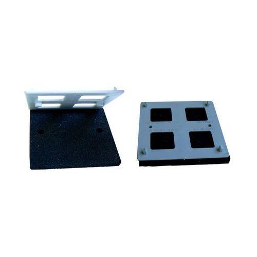 Podkładka gumowa wzmocniona płytką ochronną 110x110x13 mm - zestaw marki Harpun a/s