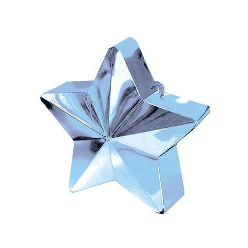 Amscan Obciążnik ciężarek do balonów napełnionych helem - gwiazda błękitna - 170 g.
