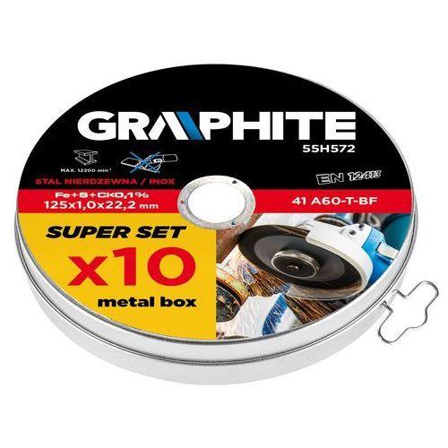 Tarcza tnąca do metalu GRAPHITE 55H572 41 A60-T-BF 125 x 1.0 x 22.2 mm (10 szt.) + DARMOWY TRANSPORT! (5902062024381)