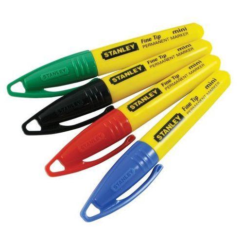 Stanley marker 4 rodzaje kolorów, okrągła końcówka 47-329
