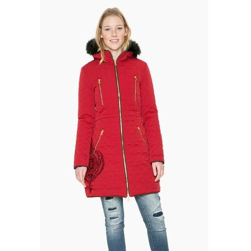 abrig azul płaszcz zimowy borgona, Desigual, 34-44