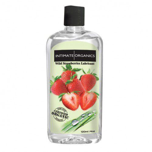 Środek nawilżający -  wild strawberries lube 120 ml truskawki wyprodukowany przez Intimate organics