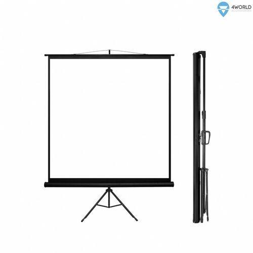 ekran projekcyjny ze statywem 152x152 (1:1) biały mat marki 4world