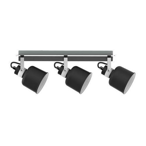 Listwa lampa sufitowa spot Krislamp Kama 3x40W E14 czarny / biały / chrom KR 341-3L