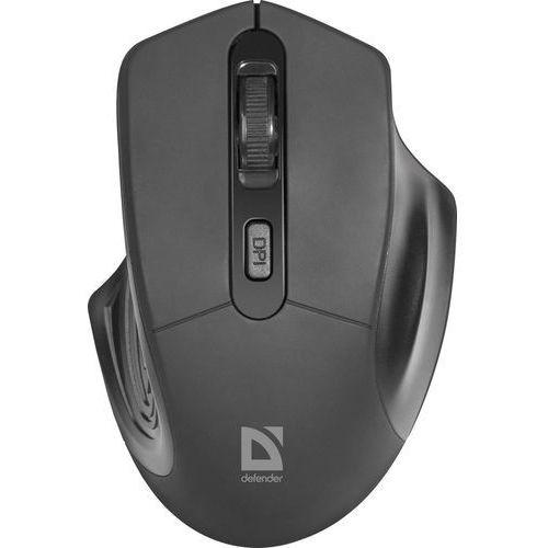 Mysz bezprzewodowa Defender DATUM MB-345 optyczna 1600dpi 4P czarna