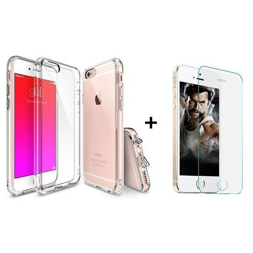 Zestaw | rearth ringke fusion crystal view + szkło ochronne | etui dla apple iphone 6 plus / 6s plus marki Rearth / perfect glass