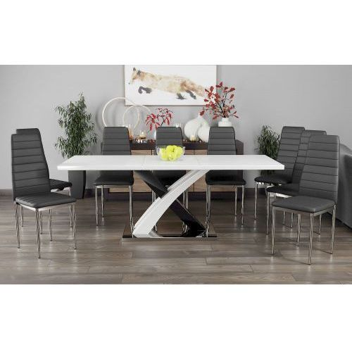 """Stół """"x"""" rozkładany 140/180cm do jadalni wysoki połysk marki Meblemwm"""